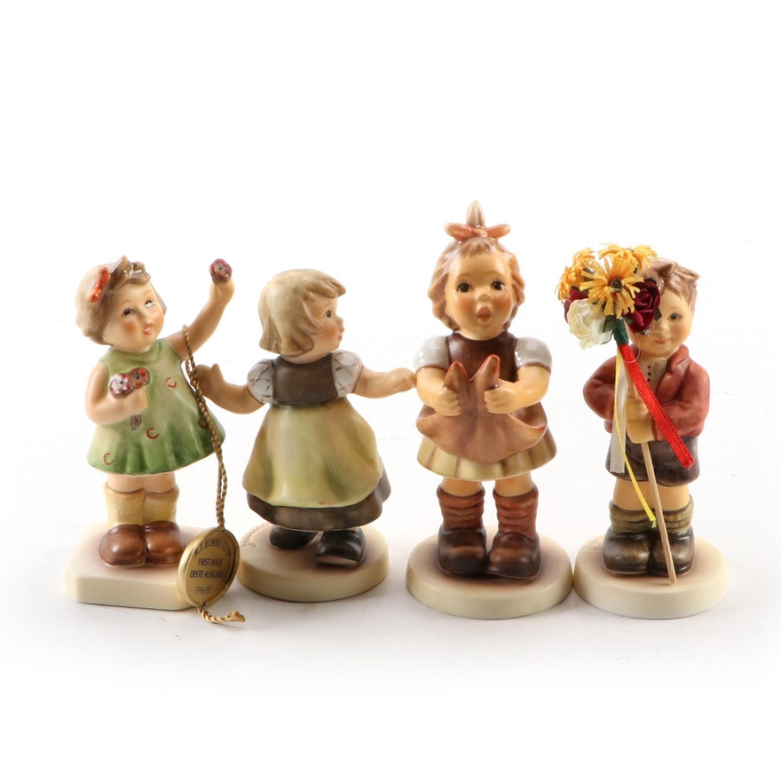 """Goebel M.I. Hummel Hand-Painted Porcelain Figurines, Including """"Forever Yours"""""""