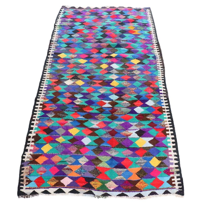 5'7 x 11' Handwoven Persian Kilim Wool Rug
