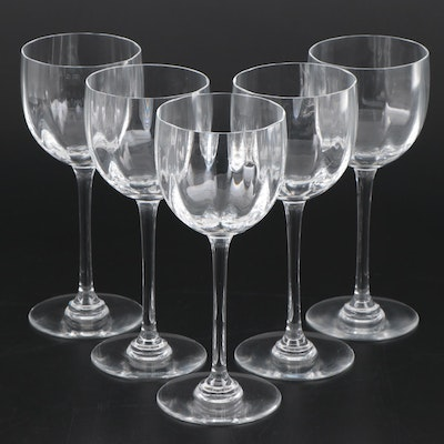 "Baccarat ""Montaigne Optic"" Crystal Rhine Wine Glasses"