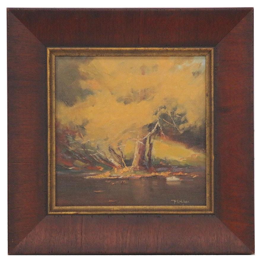 """Bill Fletcher Oil Painting """"Kentucky Gold,"""" 21st Century"""
