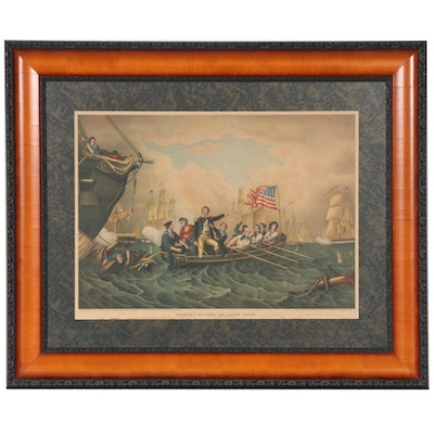 "Kurz & Allison Color Lithograph ""Perry's Victory on Lake Erie"""