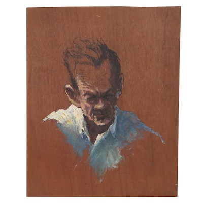Ric Rylands Figure Study Oil Painting, Late 20th Century