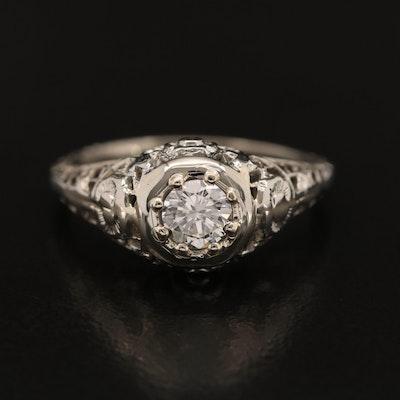 Vintage 18K and 14K Diamond Ring