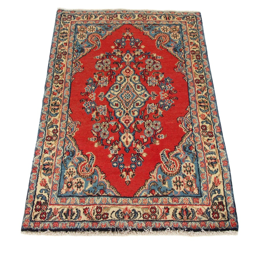 3'4 x 5'4 Hand-Knotted Persian Kashmar Rug, 1970s