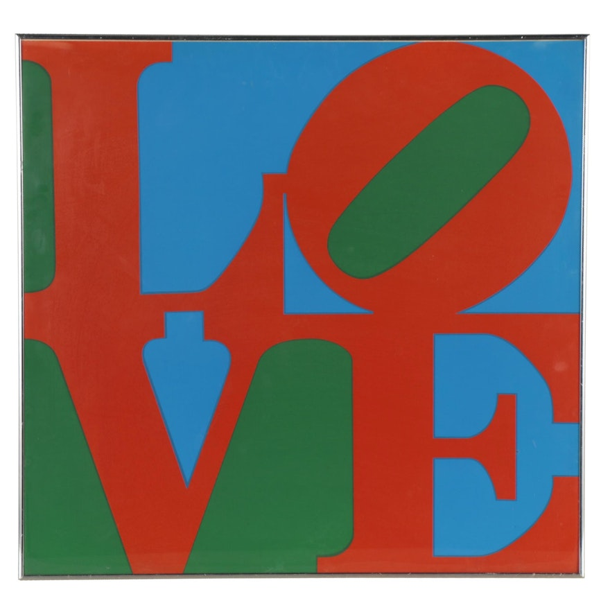"Serigraph after Robert Indiana ""Philadelphia Love,"" Late 20th Century"