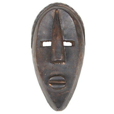 Lwalwa Style Carved Wood Mask, Central Africa