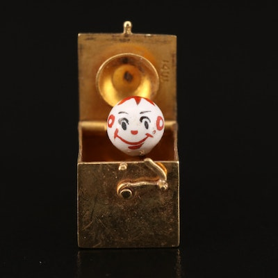 Vintage 14K Articulated Jack in the Box Charm