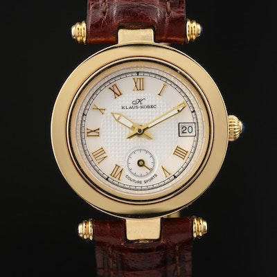 Klaus-Kobec Coutre Sports Gold Plated and Stainless Steel Quartz Wristwatch