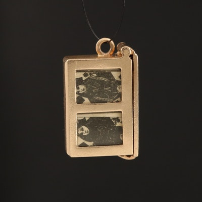 14K Deck of Cards Charm