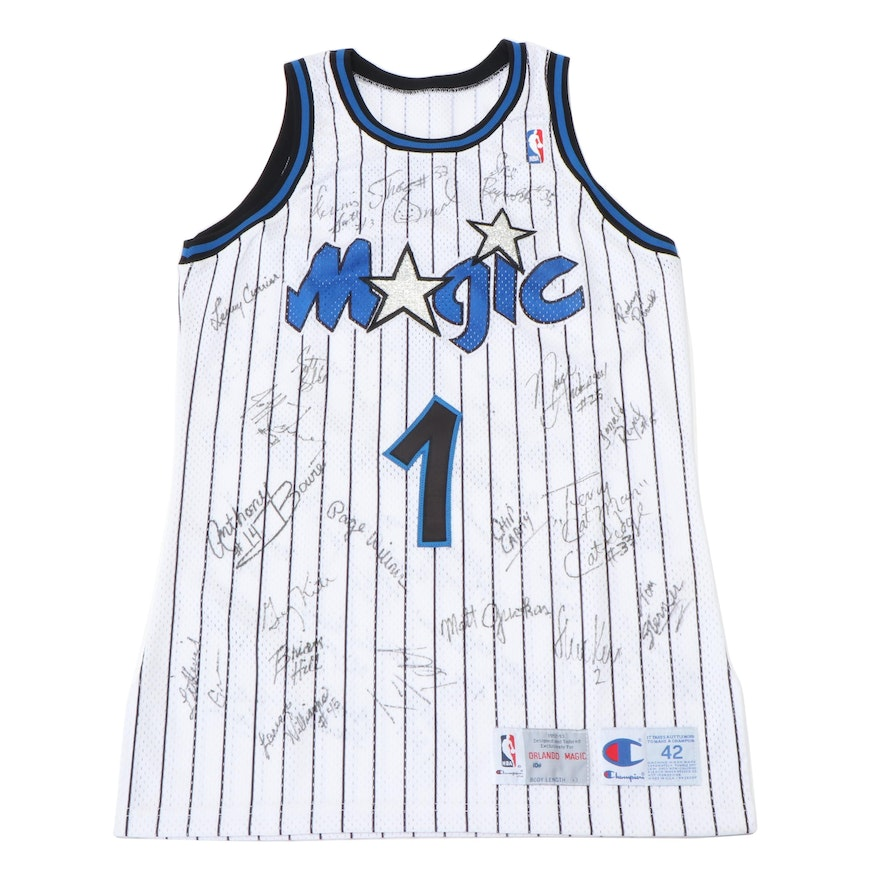 """Orlando Magic """"DeVos 1"""" Friends and Players Signed Jersey, Includes Shaquille"""