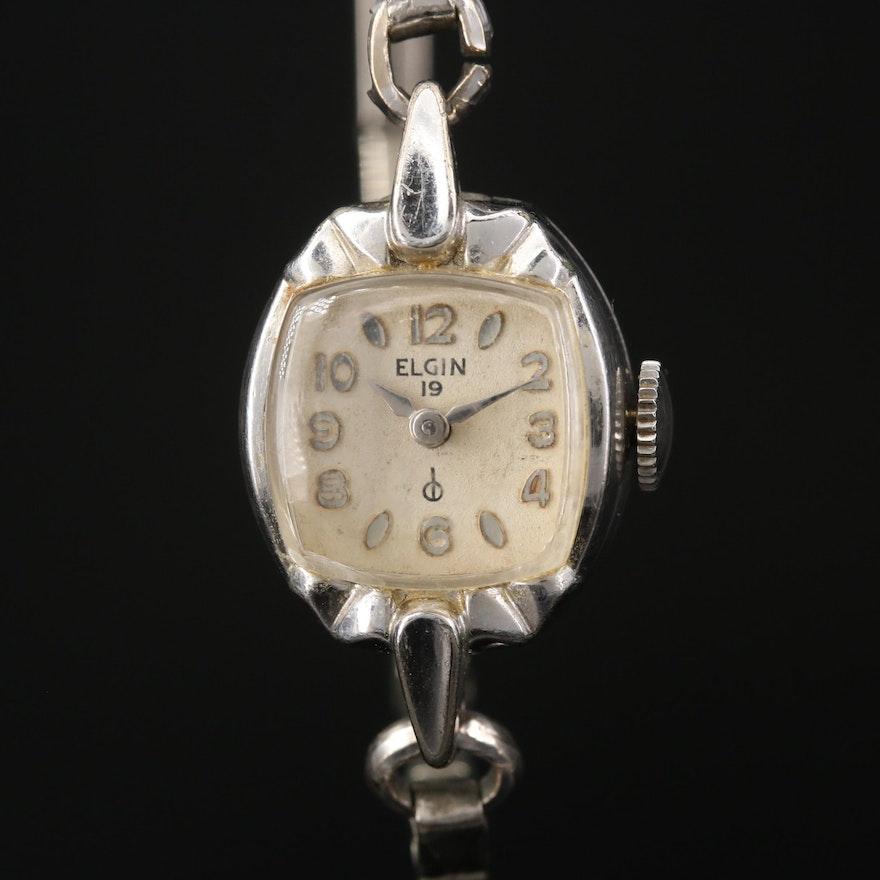 Vintage Elgin Rolled Gold Plate Stem Wind Wristwatch