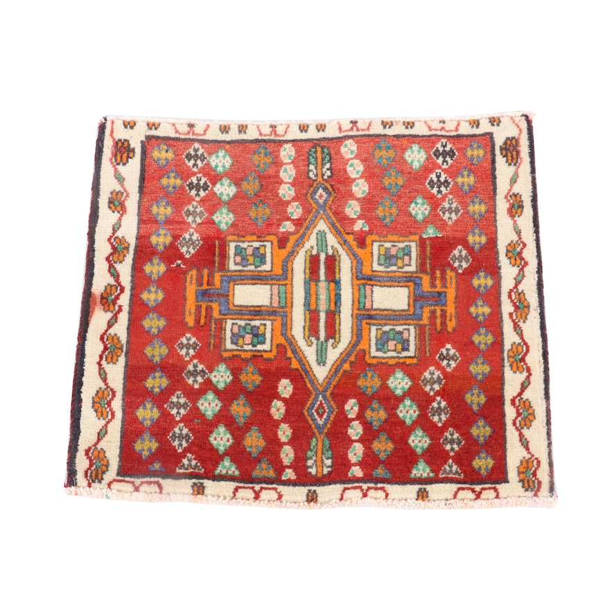 1'8 x 1'11 Hand-Knotted Northwest Persian Wool Floor Mat