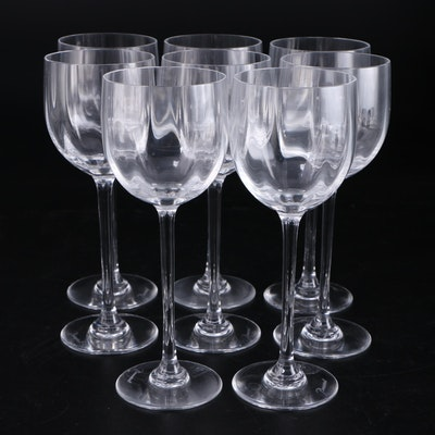 "Baccarat ""Montaigne Optic"" Crystal White Wine Glasses"