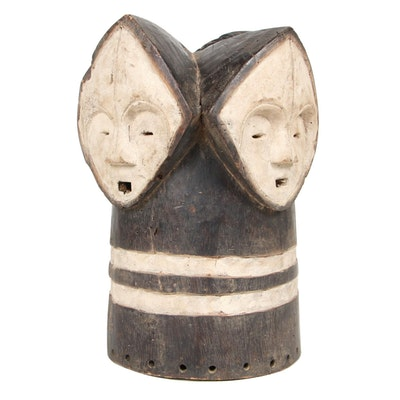"""Fang Style """"Ngontang"""" Wooden Crest Mask, Central Africa"""