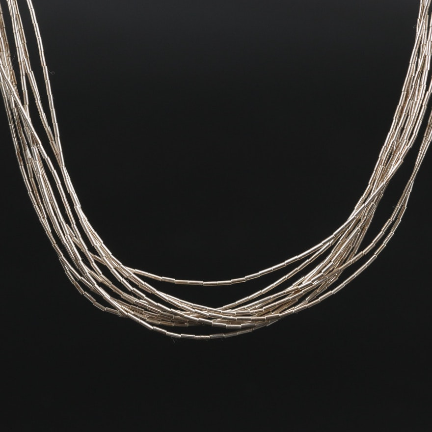 Carolyn Pollack Sterling Liquid Silver Multi-Strand Necklace