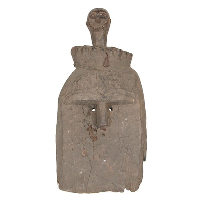 West African Wooden Double-Faced Mask