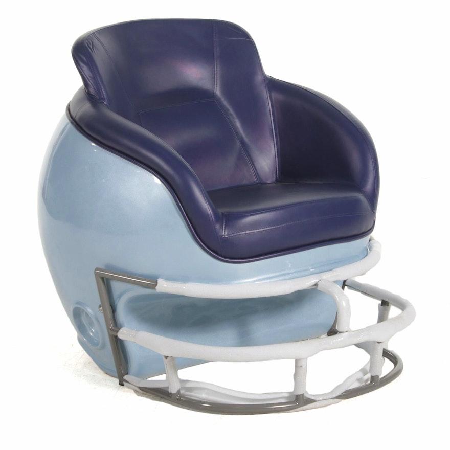 "Kentax ""Butt N Head"" Helmet Shaped Football Lounge Chair, 21st Century"
