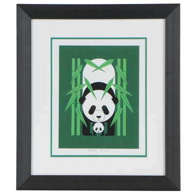 "Offset Lithograph after Charley Harper ""Panda Panda"""