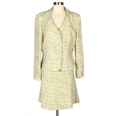 Tahari Skirt Suit with Mother of Pearl Buttons