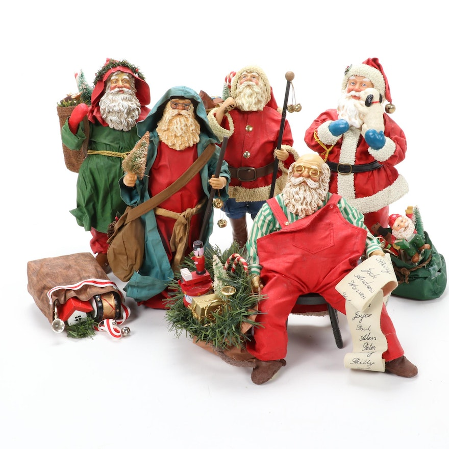 "Possible Dreams ""Father Christmas"" and Other Santa Figurines, Late 20th Century"