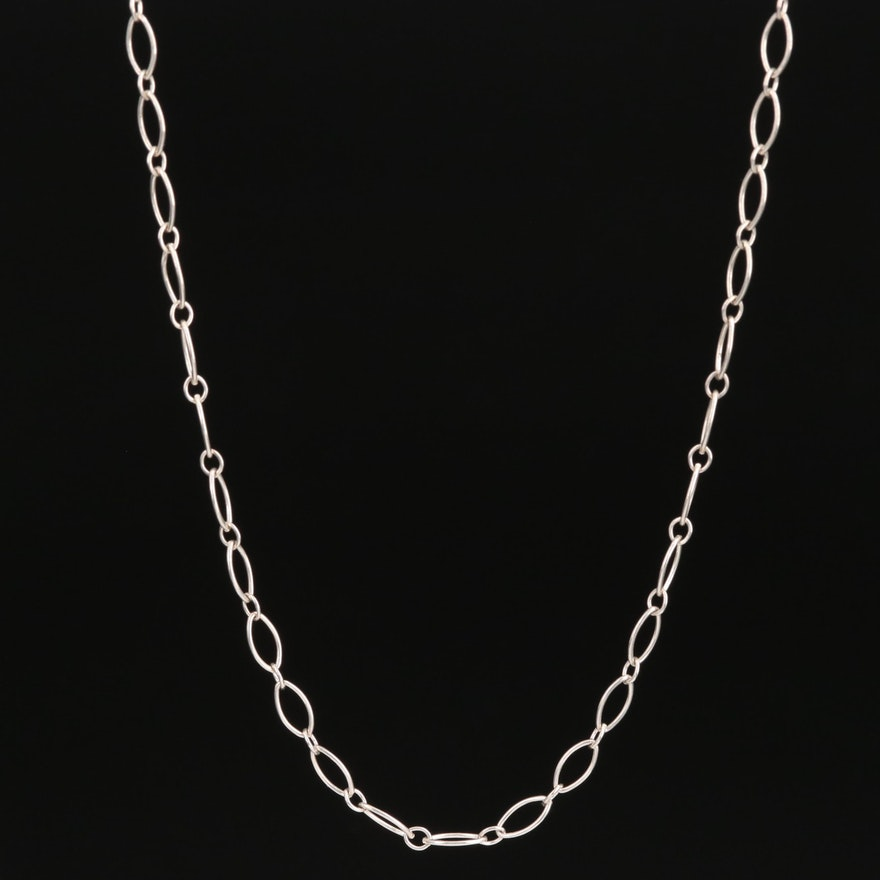 Tiffany & Co. Sterling Oval Link Necklace