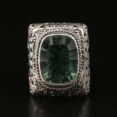 Bali Style Sterling Quartz Ring