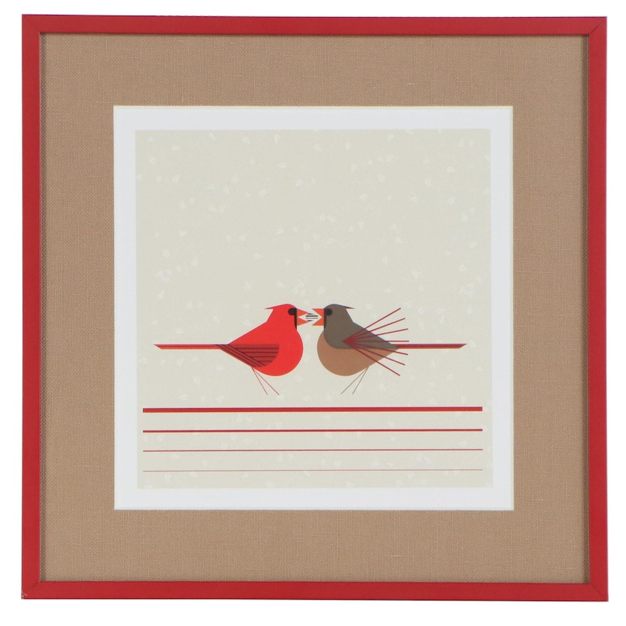 "Offset Lithograph after Charley Harper ""Beguiled by the Wild"""