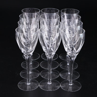 "Lenox ""Sea Swirl"" Cut Crystal Wine Glasses, 1986–1992"