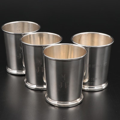 Web Sterling Silver Mint Julep Cups, Mid-20th Century
