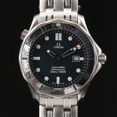 Omega Seamaster Diver 300M Stainless Steel Quartz Wristwatch