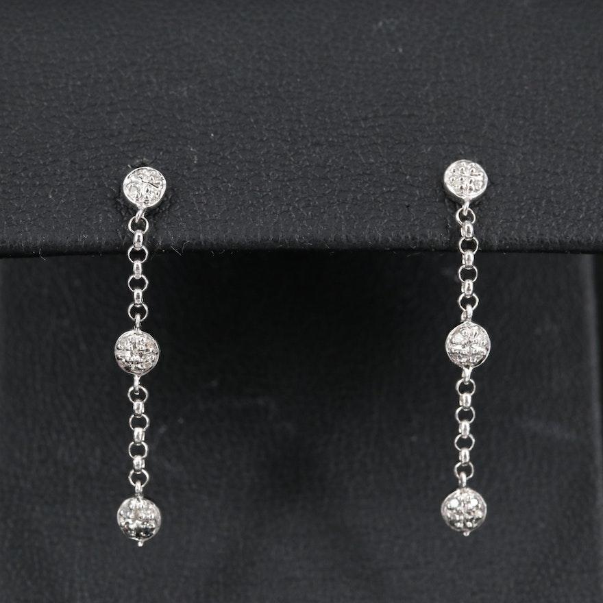 14K Diamond Dangle Earrings