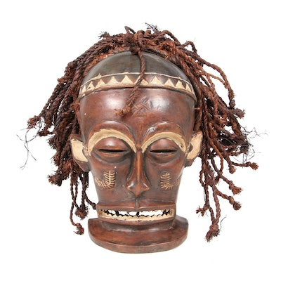 "Chokwe ""Chihongo"" Hand-Carved Wooden Mask, Central Africa"