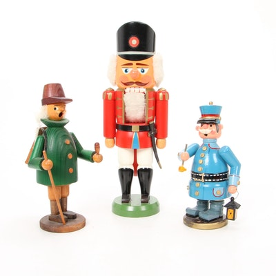Erzgebirge German Smokes and Nutcracker, Vintage