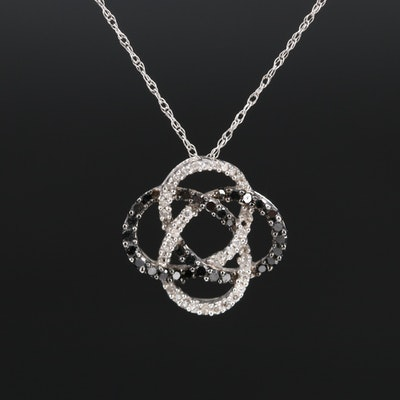 10K Diamond Knot Necklace