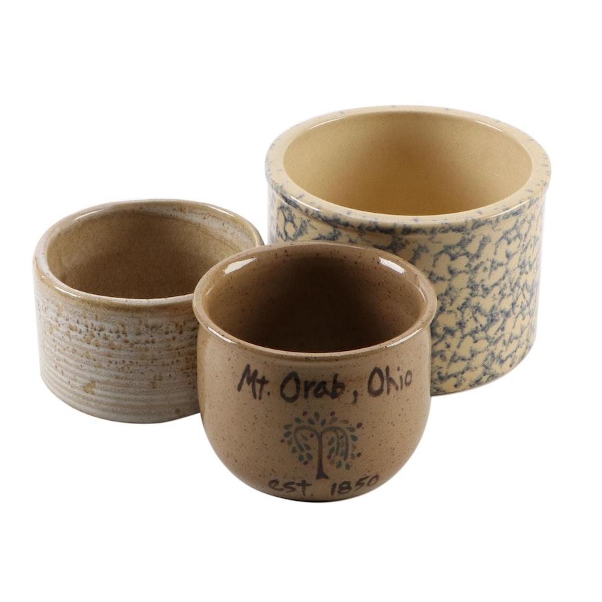 Robinson Ransbottom Stoneware Ceramic Crock and Others