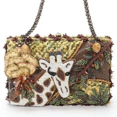 Mary Frances Beaded Giraffe Evening Purse