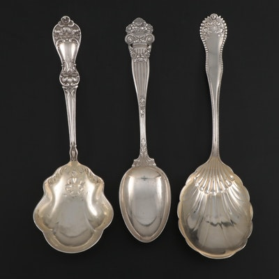 Gorham, Towle, and Baker-Manchester Mfg. Co. Sterling Silver Serving Spoons