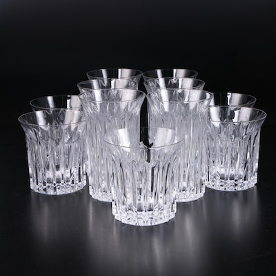 "Dansk ""Prism"" Cut Glass Highballs and Double Old Fashioned Glasses"