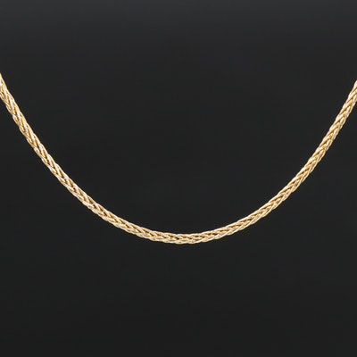 14K Two-Tone Wheat Chain Necklace
