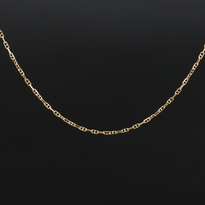 14K Mariner Link Chain Necklace
