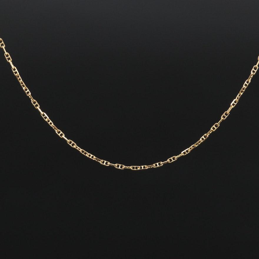 14K Mariner Link Chain Necklace