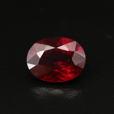 Loose 4.75 CT Oval Faceted Garnet