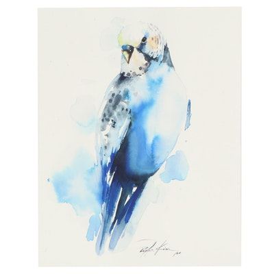 Pippa Kim Watercolor Painting of a Bird, 2020