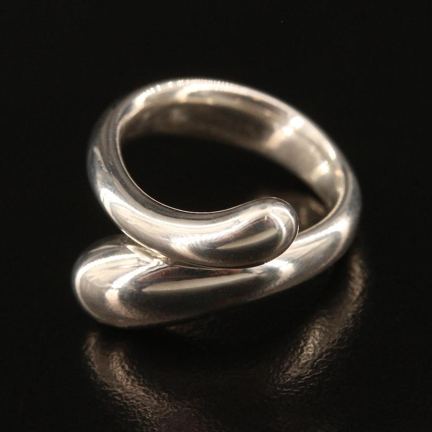 "Elsa Peretti for Tiffany & Co. ""Teardrop"" Sterling Silver Ring"