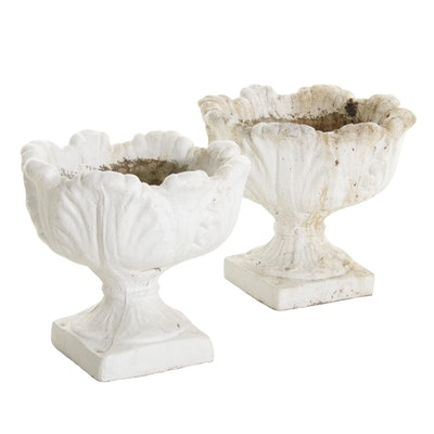 Casted Concrete Garden Planters, Mid-20th Century