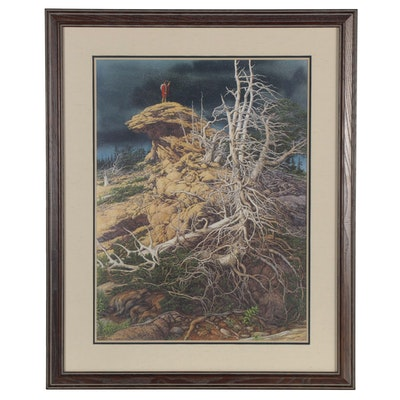 """Bev Doolittle Offset Lithograph """"Prayer for the Wild Things,"""" Late 20th Century"""