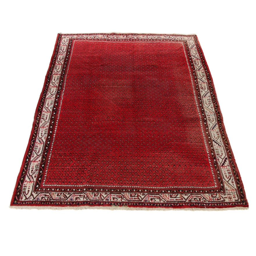7'8 x 11'6 Hand-Knotted Persian Mir Saraband Rug, 1970s