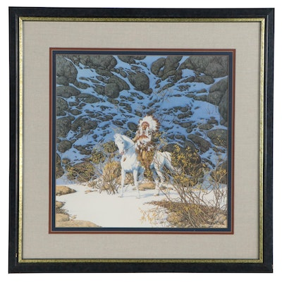 "Bev Doolittle Offset Lithograph ""Eagle Heart,"" Late 20th Century"