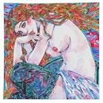 Maria Ramazanova Watercolor Painting of Female Nude, 2020
