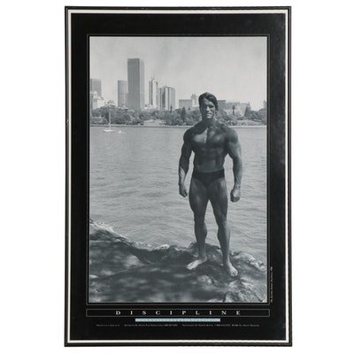 "George Butler Offset Lithograph ""Discipline"" Featuring Arnold Schwarzenegger"